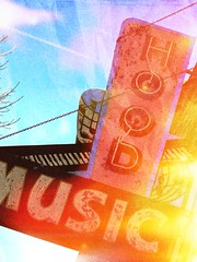 Hood Music (e r j k . a m e r j k a) Tags: indiana richmond sign music neon i70in ius27 us40 erjk archives 2011 encore variation explore