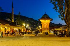 Sarajevo (Laszlo Horvath.) Tags: fountain sarajevo blue hour nikond7100 sigma1835mmf18art sebilj