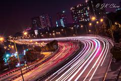Lorne road (Jk Chew) Tags: singapore npark night cars lights landscape