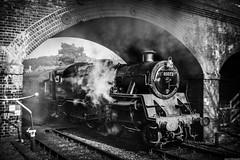 80072 (aljones27) Tags: nnr northnorfolkrailway weybourne norfolk spring bw engine station railway old nostalgia preservation preserved steam steamengine steamtrain train monochrome blackandwhite standard4 80072 matchpointwinner t629