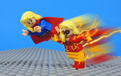 Supergirl and Jesse Quick (-Metarix-) Tags: lego minifig dc comics comic supergirl jesse quick race charity custom speedster universe pre new 52