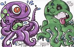 Octopussies (Question Josh? - SB/DSK) Tags: sticker stickers sticks slaps collab collaboration octopus josh