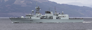 HMCS St John's, FFH 340; Firth of Clyde, Scotland