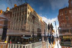 雨后印象 post rain impressionism (nzfisher) Tags: london cityscape landscape 24mm canon buildings pedestrian sunset reflection water puddle uk