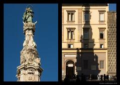 Guglia dell'Immacolata (Ciao Anita!) Tags: napoli napels naples na campania italie italia italy schaduw ombra shadow maria madonna mary plein piazza square bellitalia