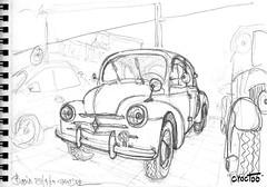 Au garage ! ... à Bouin (Croctoo) Tags: croctoo croctoofr croquis crayon auto autoancienne mécanique mecanique garage