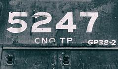 CNO&TP 5247 (Wheelnrail) Tags: ns norfolk southern emd gp382 cnotp high hood geep locomotive railroad rail road cincinnati elmwood place oh tied down spring house track 5247