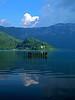 Aiguebelette lake 08052018 (Mich73b) Tags: lake lac france aiguebelette savoie blue water reflection reflects reflet reflets waterscape eau paysage montagne calme baie