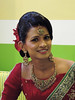 Galle - Happy Bride (Drriss & Marrionn) Tags: travel srilanka ceylon southasia outdoor seaside tropics coastline galle coast sea city cityscape people couple marriage wedding justmarried portrait bride smile happiness woman lady face smiles red reddress jewels jewelry earrings