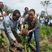 Ms. Fatouma Seid, FAO Ethiopia Representative planting a tree