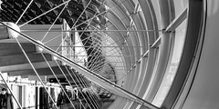 cdg * niveau arrivées (bilderkombinat berlin) Tags: ⨀2018 paris charlesdegaulle aeropuerto aéroport terminal cdg eu france capital bw roissy europa blackwhite airport airfrance europe lines curves building indoor concrete architecture daylight flughafen