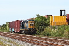 Classic (brickbuilder711) Tags: csx miami hialeah train y223 yard job gp402 east rail lance mindheim model railroad local boxcars
