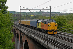 13-05-2018 37099 MERL EVANS 1947-2016 on Croxdale Viaduct (steveporrett) Tags: 13052018 37099 merl evans 19472016 2018 13 may croxdale viaduct 3z13 heaton trsmd derby rtc test train