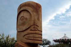 Grand Tiki Polynésien. (*PYROS*) Tags: tiki polynésie marquises roi sculpture culture vendée olonne 85 art