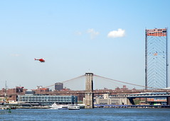 Heliopter over the East River, New York, USA. (Roly-sisaphus) Tags: nyc thebigapple unitedstatesofamerica