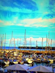 Madeira, Portugal. Funchal Marina (dimaruss34) Tags: newyork brooklyn dmitriyfomenko image sky clouds portugal madeira svetlanafomenko funchal ocean yachts