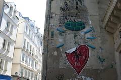 Amour Chien Fou paste-up (Jürgo) Tags: paris parisstreetart streetart france urbanart streetartfrance publicart paste pasteup wheatpaste poster posterart amour