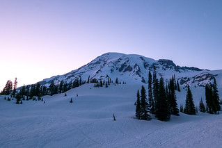 Blue hour from camp