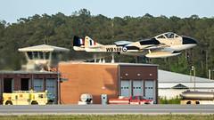Vampy Too - N23105 (4myrrh1) Tags: dehavillanddh100vampire vampire vampytoo vampy aircraft airplane aviation airshow military british jet first mcas nc northcarolina marine 2018 takeoff