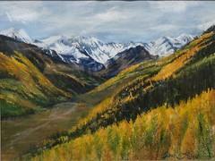 Colorado Gold, 18x24 -Pastel #mountains#fall colors#aspen trees#snow#Colorado#art#arte#sky (benjaminkelley1) Tags: aspen mountains arte art fall sky colorado snow