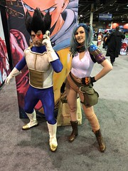 Awesome Vegeta and Bulma! (blueZhift) Tags: animecentral2018 acen 2018 cosplay anime manga comics videogames costume cartoons scifi fantasy