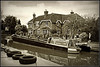 Norton Junction (Jason 87030) Tags: barge boat narrowboat section charter geeks water nortonjunction cut canal moored moorings butty raymong nutfield braunston work mono sepia effect building house canalside sony alpha a6000 ilce gatecrach nex tag lens scene view nice surprise frame border shot shoot session may 2018 tyres bw bbw black white noir blanc blackandwhite hint
