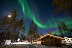 極光屋與極光 (Hamster620) Tags: 風景 landscape 夜景 night 極光 aurora 芬蘭 finland