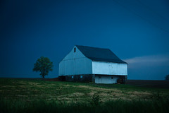 blue barn (Jen MacNeill) Tags: lancaster county country rural barn farm storm weather stormy pa pennsylvania blue white barns tree