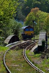 DSC_8359 Creeping up (Gavin P B) Tags: goonbarrow st blazey lostwithiel china clay 66187 db schenker ews freight cornwall train bridge cast iron steel