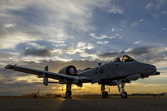 A-10 Thunderbolt II at Sunrise (Trent Bell) Tags: aircraft planesoffameairshow planesoffame airshow chino airport california socal 2018 chinoairport a10 thunderboltii warthog sunrise hdr