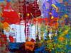 cardboard magic (MizzieMorawez) Tags: acryl rippedcardboard integratingducttapetracks scratches cracks a3formatsmaller irregularedges speedpainting intuitive unorthodox experimental abstract colorful textures innovative