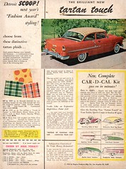 1955 Car-D-Cal Tartan Touch Chevrolet USA Original Magazine Advertisement (Darren Marlow) Tags: 1 5 9 19 55 1955 car c d cal decal p pattern chevrolet chev chevy a automobile v vehicle u s usa united states america american 50s