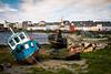 Claddagh, Galway, Ireland (Val Beegan) Tags: ireland claddagh galway wildatlanticway scenic scenary irish photography boats water boating boat wrecks green blue sky summer daylight