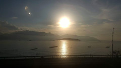 Moon burst (Roving I) Tags: moon moonlight harbours water sea reflections scenic islands cloud nature nhatrang vietnam