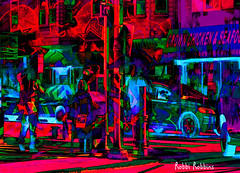 The Corner (brillianthues) Tags: urban city philadelphia street corner colorful collage photography photmanuplation photoshop
