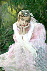 Daydreaming Zoe (glasskunstler) Tags: zoe ribbons sunlight tights child dreamer wreath daydreamer beauty outdoors pose portrait youth girl