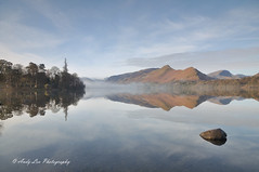 Blue Dawn (Andy Lea Photography) Tags: landscape water lake reflections light trees rocks mist andy lea photography