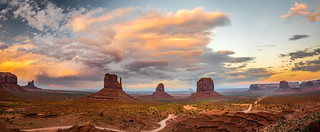 Monument Valley West & East Mittens Buttes Breaking Storm Clouds High Res McGucken Fine Art Photography Sunset! Epic Utah Desert Breaking Storm Stormclouds! American West! Monument Valley! Nikon D810 & 28-300mm Nikkor Zoom Lens!