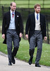 Prince Harry (R) and Prince William, Duke of Cambridge attend the wedding of Pippa Middleton and James Matthews at St Mark's Church on May 20, 2017 in Englefield Green, England. (Photo by Justin Tallis