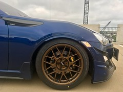 """Alwin's 2013 Scion FR-S with 17"""" ARC-8 Wheels in Satin Bronze (ApexRaceParts) Tags: frs brz ft86 86 blue bronze 17 17inch toyota"""
