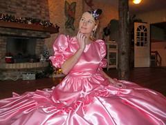 Satin ocean (Paula Satijn) Tags: beautiful gorgeous girl lady young awesome elegant magnificent classy satin silk shiny dress gown ballgown pink feminine girly hot sweet adorable cute smile lovely blonde hat skirt fun joy