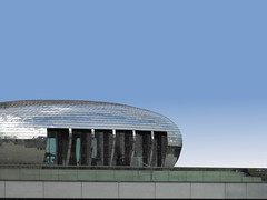 Easter Egg (Ed Sax) Tags: düsseldorf unterbilk edsax art photoart architektur postmodern contemporary medienhafen abstrakt surreal minimal alu aluminium geomertisch