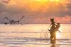 Phatthalung Cowboy (Marcus Lim @ WK) Tags: horse riding landscape nikon net sunrise ray light water jump animal