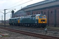 86101-47727-DT-26042018-1 (RailwayScene) Tags: class47 47727 class86 86101 aclg etl gbrf gbrailfreight caledoniansleeper aclocomotivegroup electrictractionltd darlington