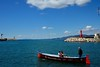 A rem (Enllasez - Enric LLaó) Tags: marina mar mediterraneo cambrils barca far faro blau azul nwn