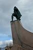 Hallgrímskirkja, Reykjavik (JohntheFinn) Tags: statue leifureiríksson hallgrímskirkja reykjavik europe leiferiksson church lutheran