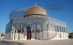 The Dome of the Rock..  INIMICAL ENERGIES AT THE TEMPLE MOUNT..two giant Astral beings are locked in a deadly battle atop Mount. (bernawy hugues kossi huo) Tags: hiérophantes mosquéedurocher pierredefondation hypostase archonte nephilim extraterrestres aldebaran alchemy sternenweg newage rebirth exoplanète portedesétoile stargate sternentor décorporation intersidéral astral energy templemount being ufo moriahmount arkofconvienent fight flyingsaucer laser spaceship jerusalem jacobsladder coblerstone reptilian demonic hierophant metamphycosis combative encompassing float ark noah sirius grail celestial citycosmic cosmic wisdom thedomeoftherock dome rock grailcastle luciferbindingsite inimical energies
