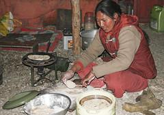 In the kitchen#1 (bag_lady) Tags: cooking inthekitchen kitchen makingchapatis ladakh spangmik india homestay ladakhi jammuandkashmir pangonglake