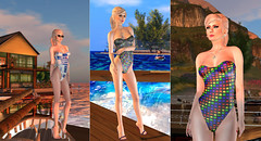 Swimmies (karenpiper_uk) Tags: swimsuit jellyroll fatpack geek geeky bargain garbaggio ricielli swimwear bathingsuit summer secondlife fashion tetris r2d2 spaceinvaders