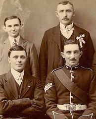Who are those guys? (ronmcbride66) Tags: moustache portrait oldphotograph dressuniform generations ancestry family history ww1 wedding veteran ww1veteran 1850s